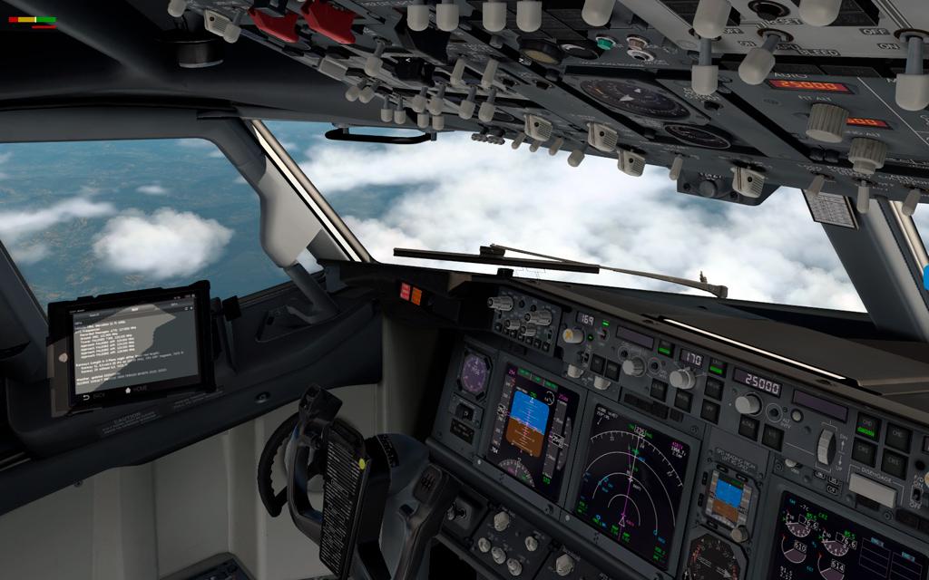 Uma imagem (X-Plane) B737--11