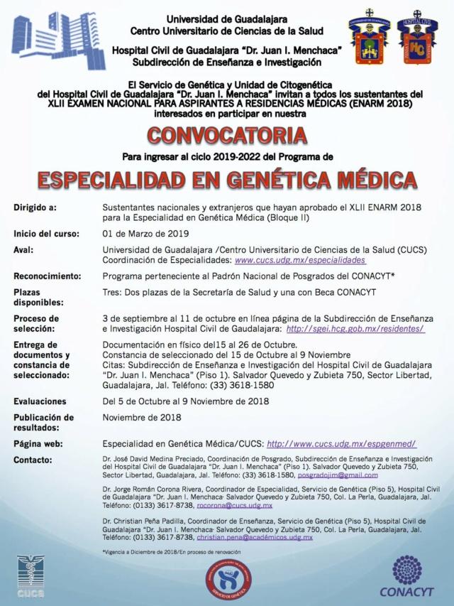 VUELTA - Hospitales que ofrecen genética - Página 3 Convoc10