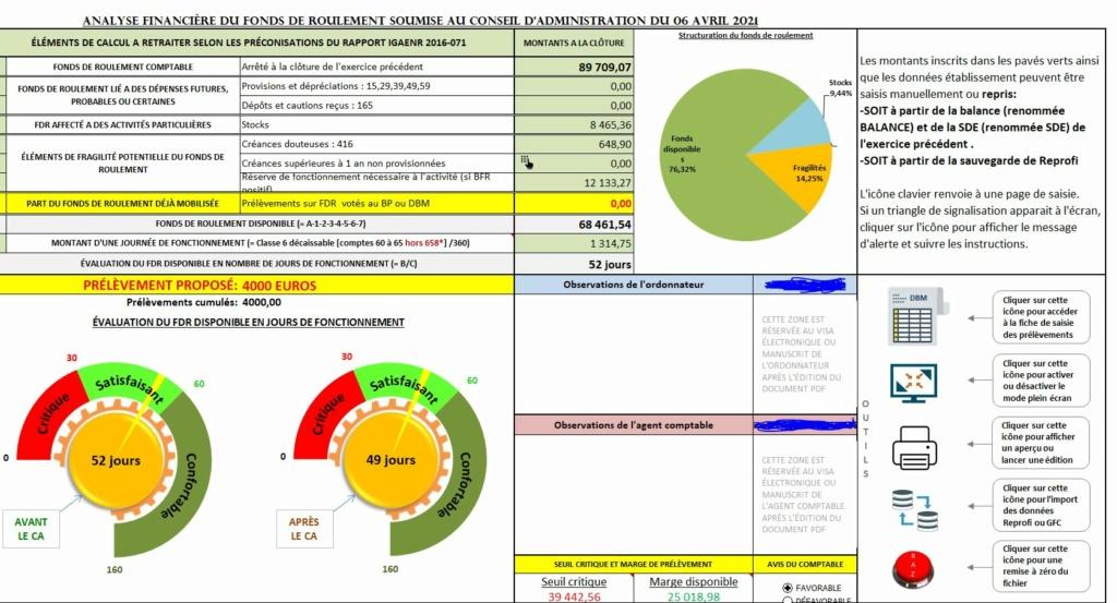 FDRm l'outil d'analyse financière du FDR pour les DBM de prélèvement Captur32