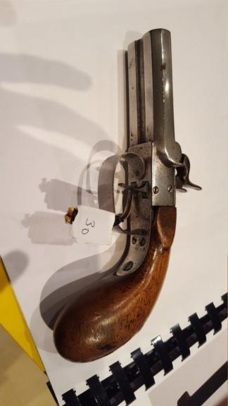 petit pistolet a silex double canon 20181233