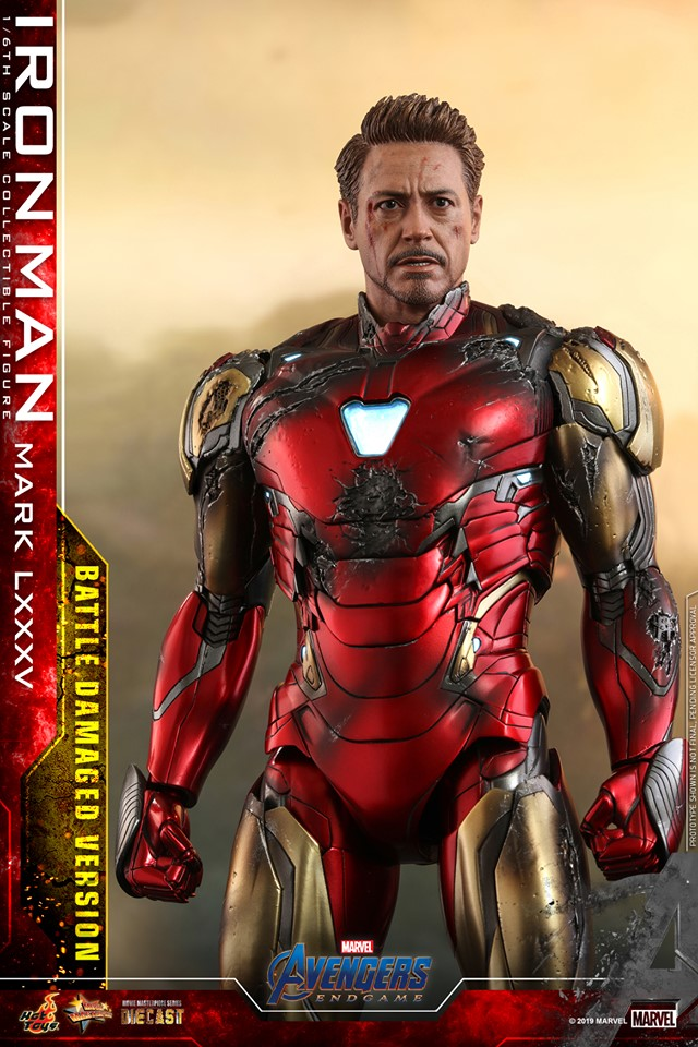 AVENGERS END GAME -  IRON MAN MARK LXXXV BATTLE DAMAGE VERSION - 64854310