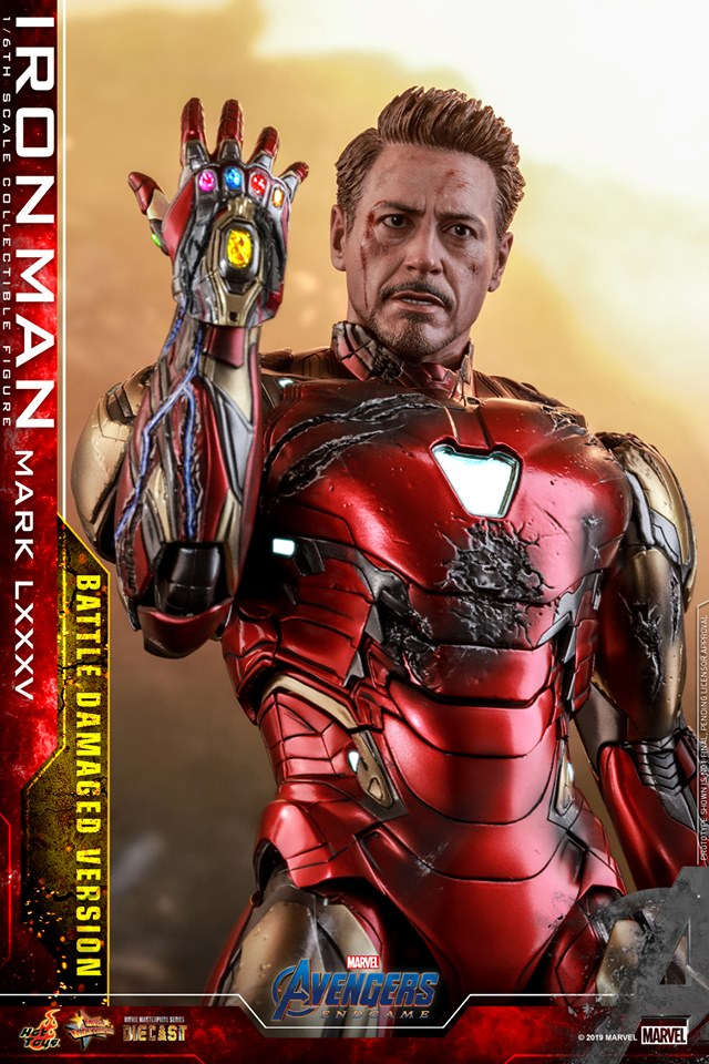 AVENGERS END GAME -  IRON MAN MARK LXXXV BATTLE DAMAGE VERSION - 66698910