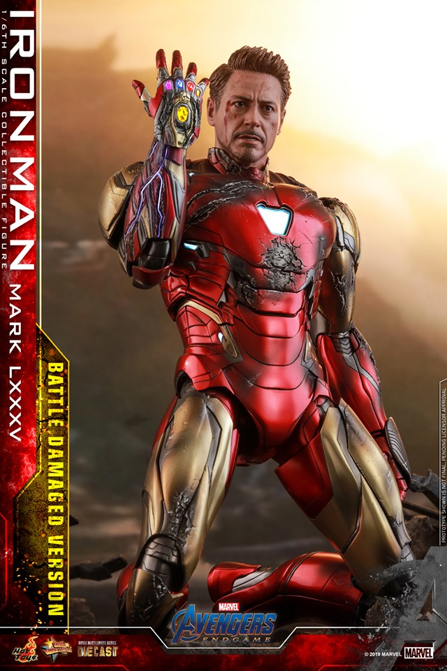 AVENGERS END GAME -  IRON MAN MARK LXXXV BATTLE DAMAGE VERSION - 66700510