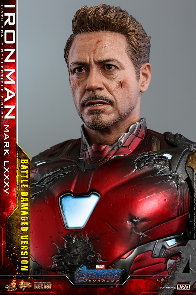 AVENGERS END GAME -  IRON MAN MARK LXXXV BATTLE DAMAGE VERSION - 66715710