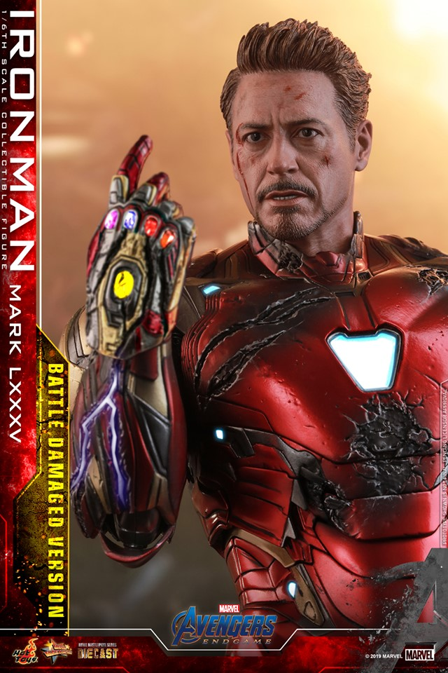 AVENGERS END GAME -  IRON MAN MARK LXXXV BATTLE DAMAGE VERSION - 66734510