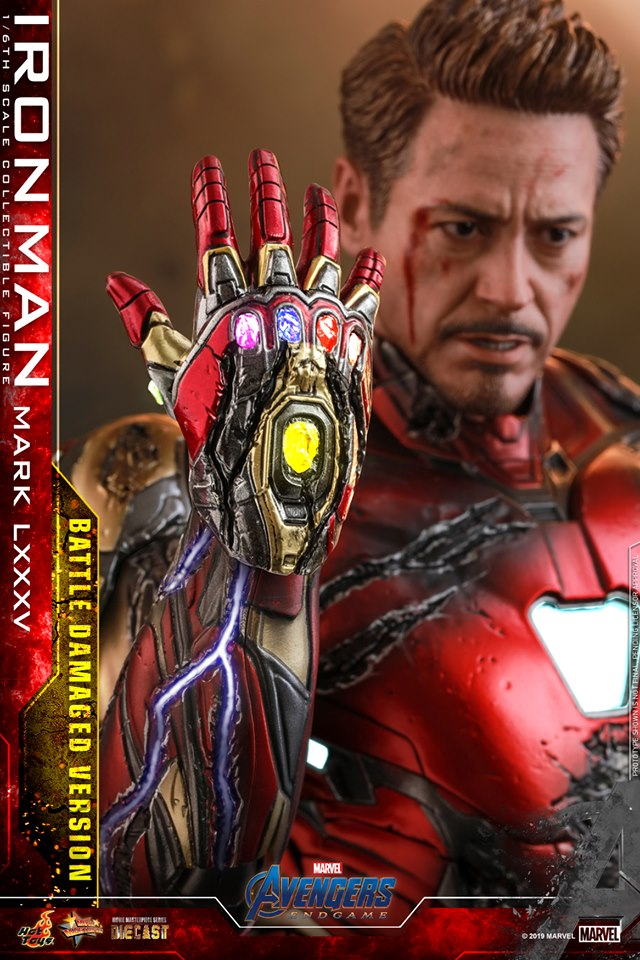 AVENGERS END GAME -  IRON MAN MARK LXXXV BATTLE DAMAGE VERSION - 66802810