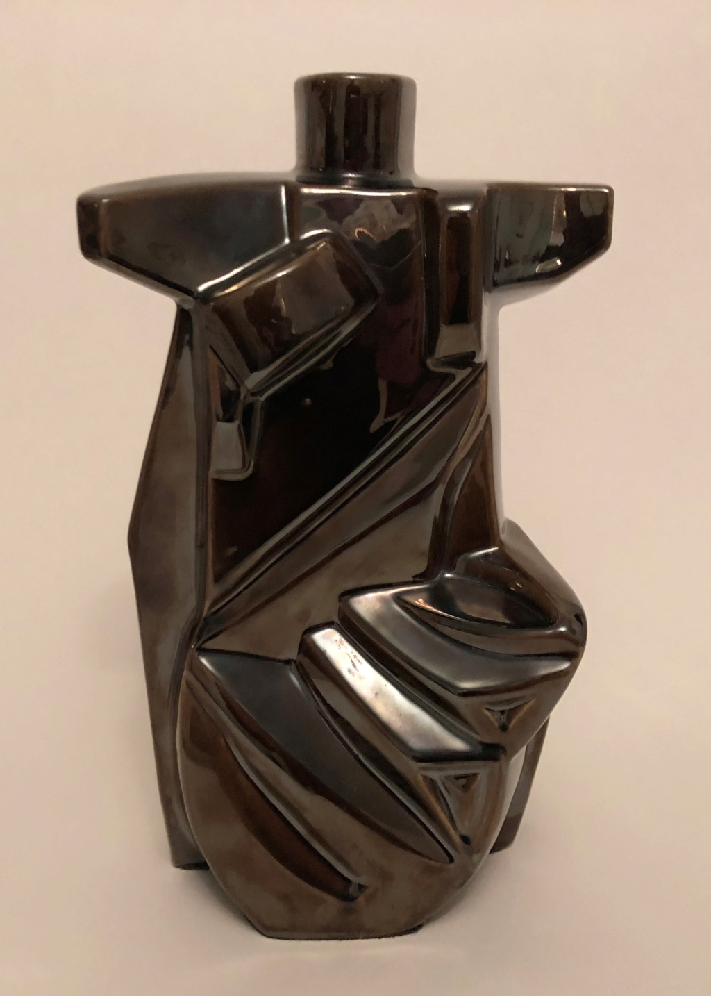 Abstract Cubist Pottery 26cm Tall Img_0014