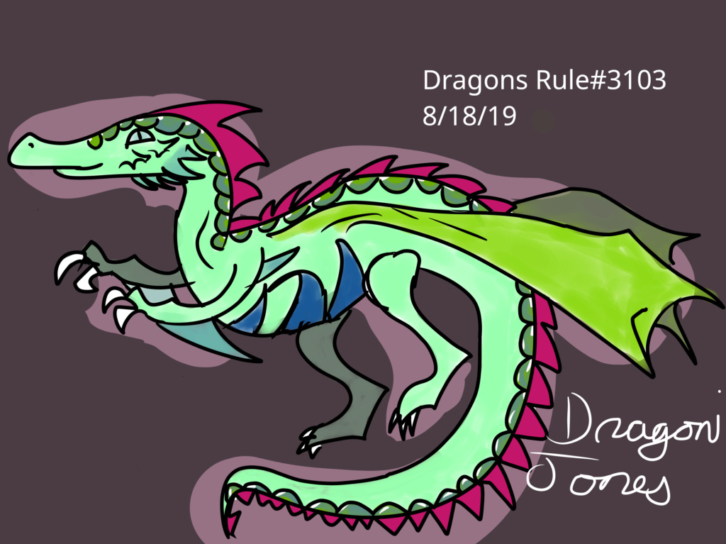 Contest #6 - Raptor Dragon - Paper or Digital Dart_r10