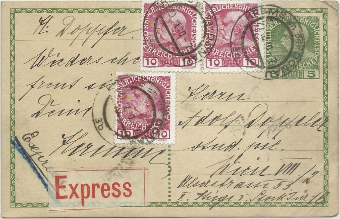 Die Freimarkenausgabe 1908 - Seite 5 19150310