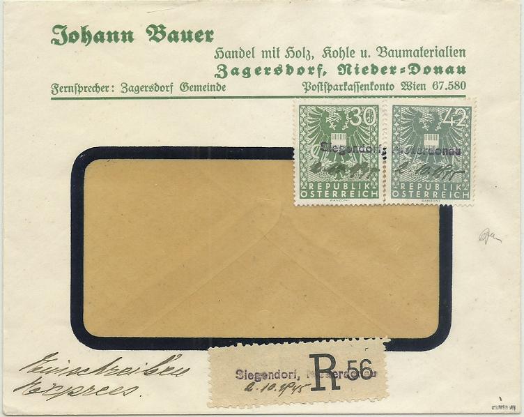 Wappenzeichnung  -  ANK 714-736 - Belege - Seite 6 19451010