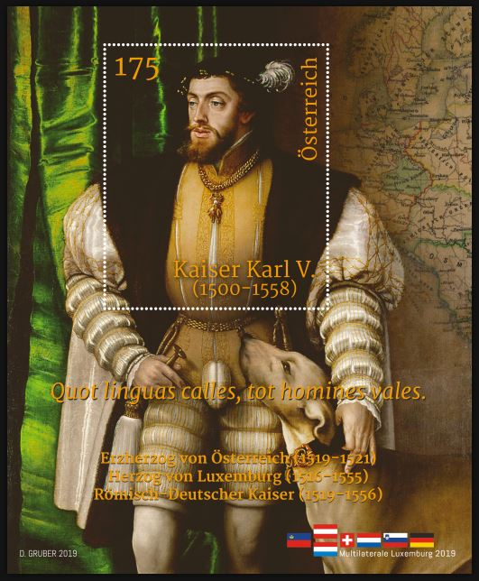 Österr. NEU: Blockausgabe GA Luxemburg – Kaiser Karl V. 1_karl10