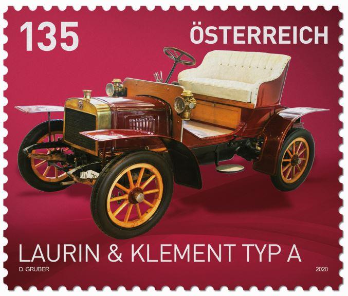 Österr. NEU: Sondermarkenausgabe Autos, Laurin & Klement Typ A 1_laur10