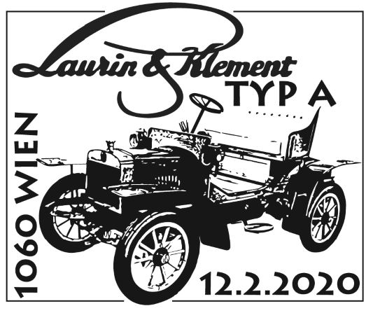 Österr. NEU: Sondermarkenausgabe Autos, Laurin & Klement Typ A 1_laur11