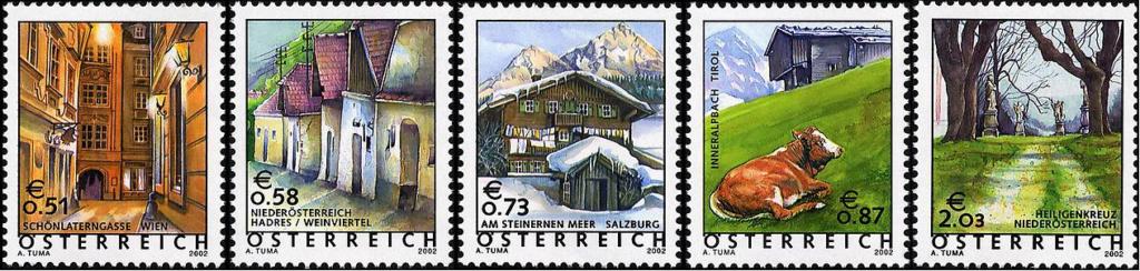 Ferienland Österreich - Dauermarkenserie 20020110