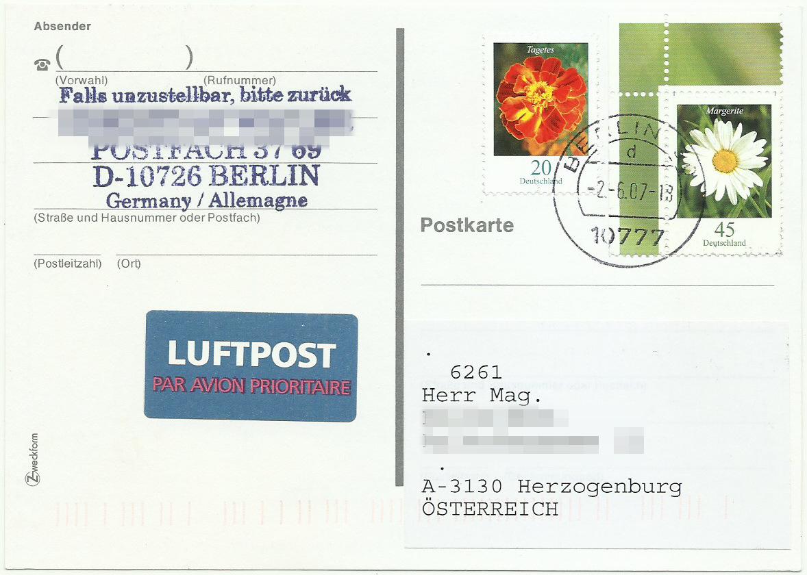 Dauerserie Blumen - Belege 2451_012