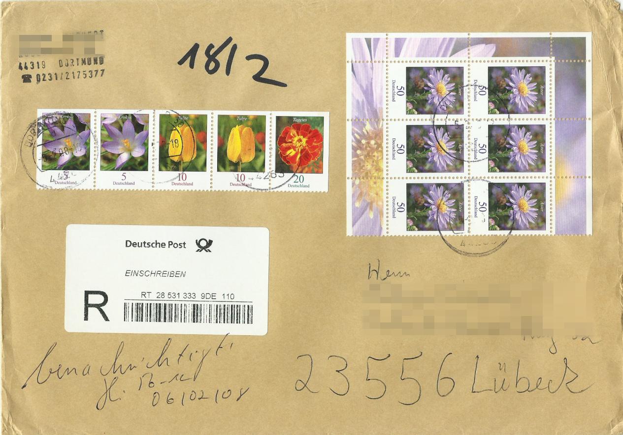 Dauerserie Blumen - Belege 2463_012