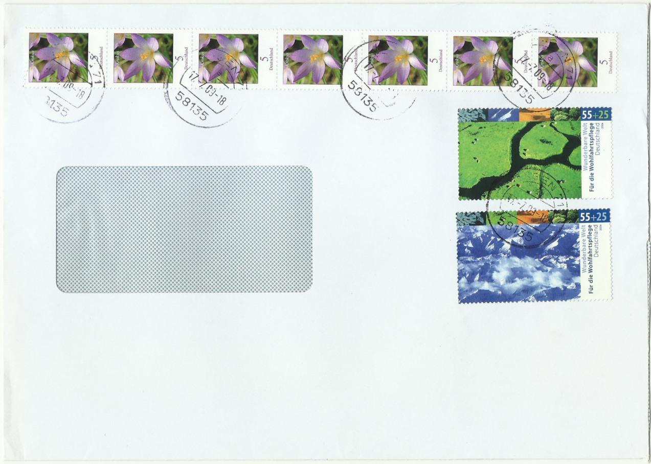 Dauerserie Blumen - Belege 2480_011