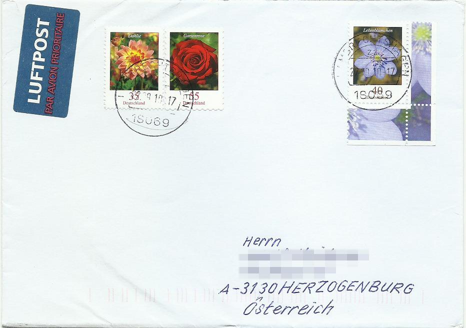 Dauerserie Blumen - Belege 2485_l10