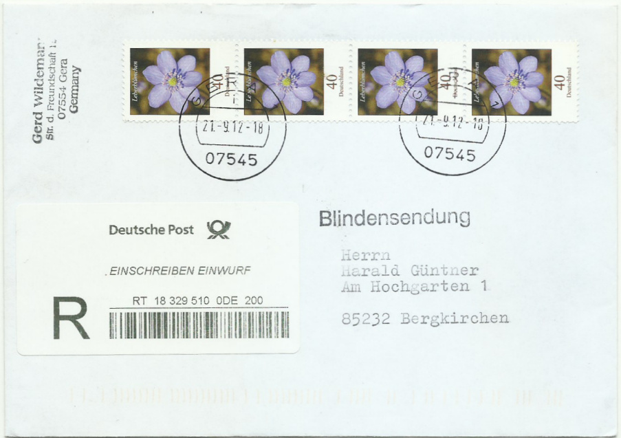 Dauerserie Blumen - Belege 2485_l11