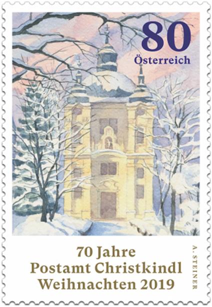 Österr. NEU: 70 Jahre Postamt Christkindl nassklebend  2_chri10