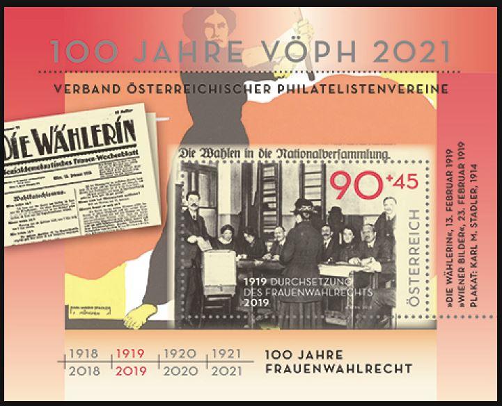 Österr. NEU: Block 100 Jahre Frauenwahlrecht in Österreich 2_frau10