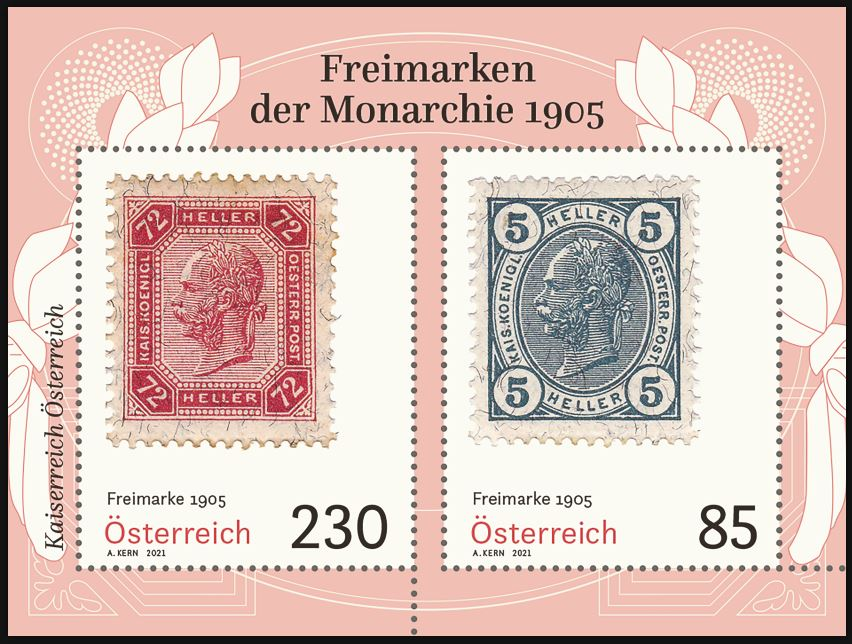 Österr.NEU: Block Freimarken 1905 3_frei13
