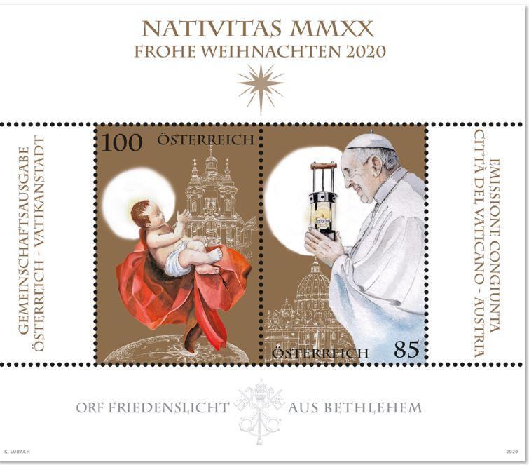 Österr. NEU: Friedenslicht aus Bethlehem - Gemeinschaftsausgabe mit Vatikanstadt 3_frie10
