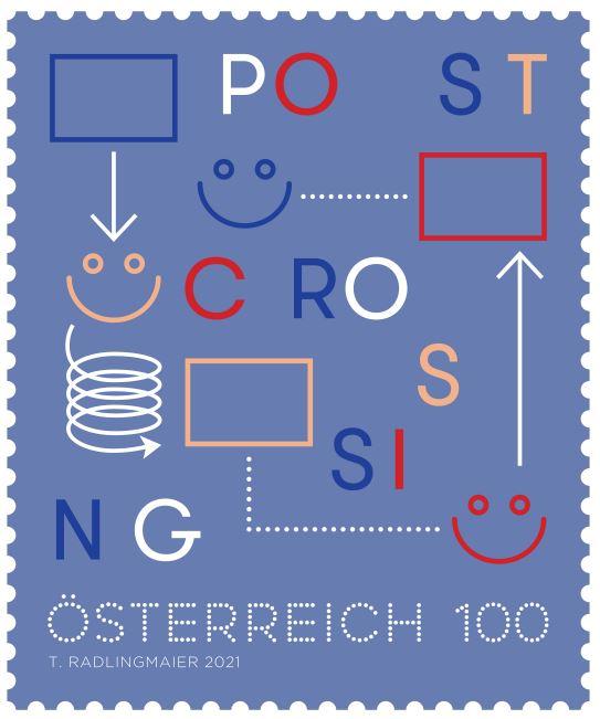 Österr. NEU: Postcrossing 2021 3_post10