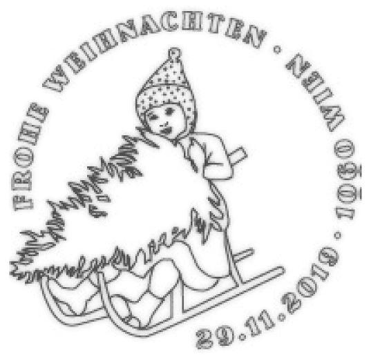 Österr. NEU: Weihnachten 2019 – Kinder mit Schlitten 5_weih13