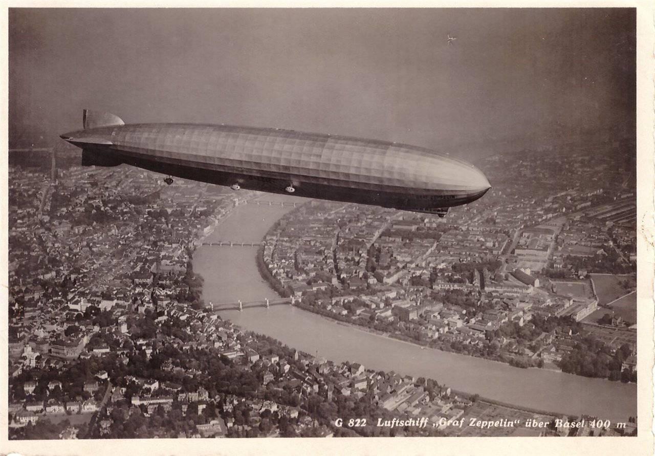 Ansichtskarten der Luftschiffe Basel10