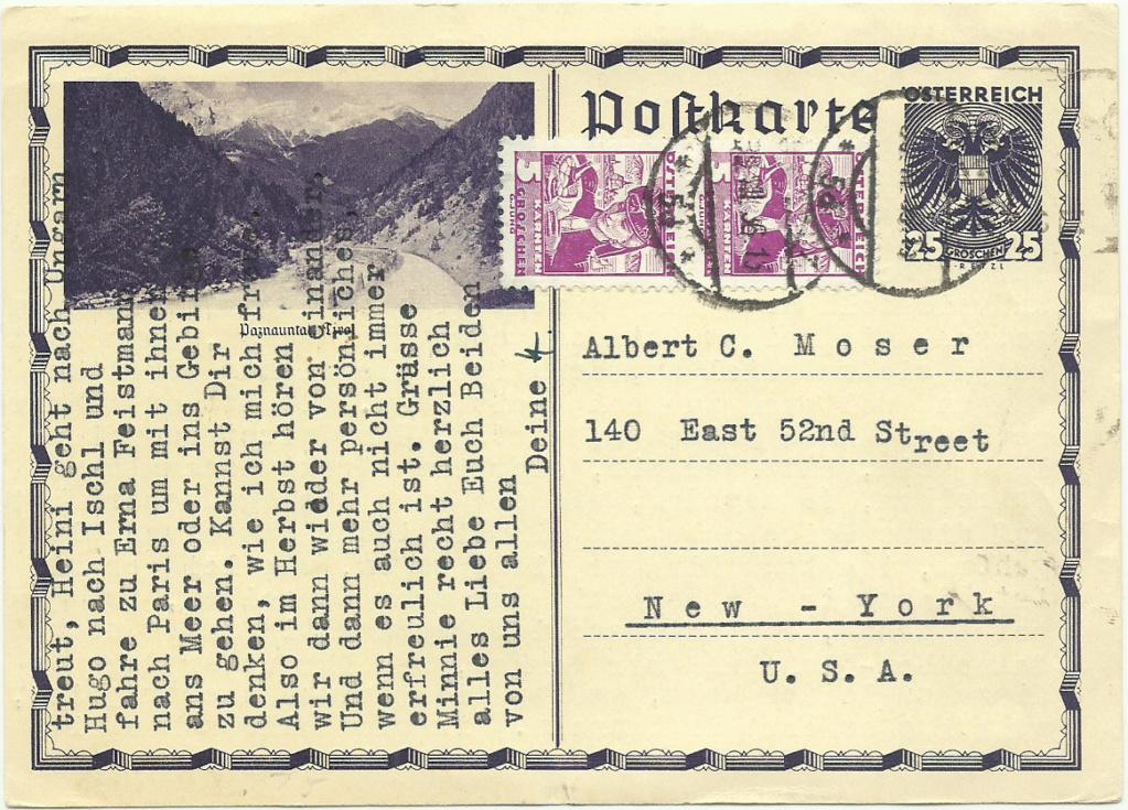 Bildpostkarten 1. Republik / Wertzeichen Doppeladler Bildpo12