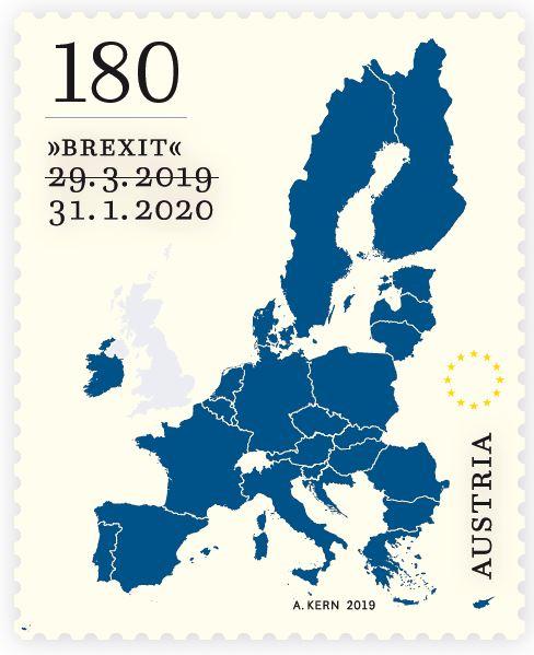 HEUTE: Österreichische Post überrascht mit Briefmarke zum Brexit Brexit10
