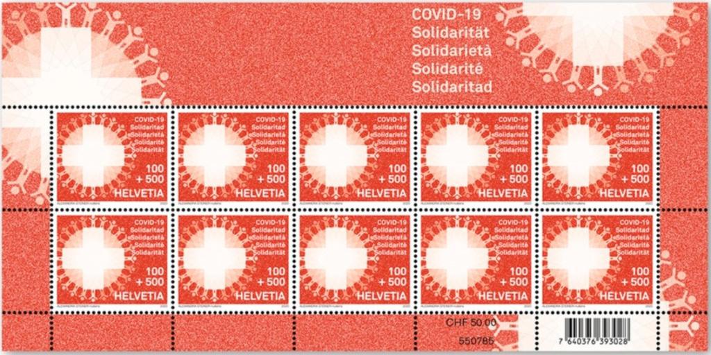 "Schweiz Briefmarke ""COVID-19 Solidarität"" Covid10"