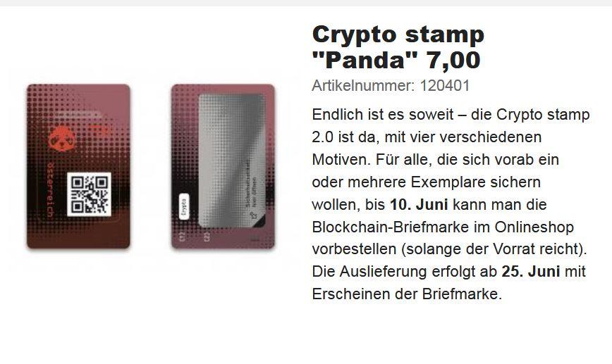 NEU: Crypto Stamp 2.0 Crypto12