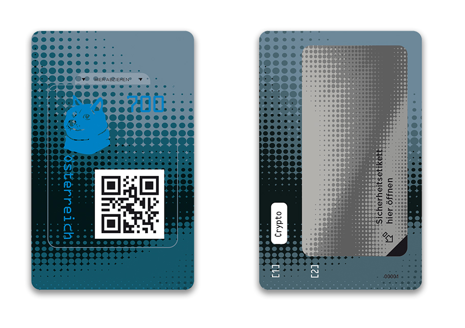 Österr. NEU: Crypto stamp 2.0 Crypto19