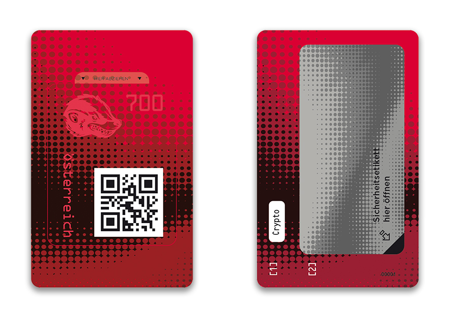 Österr. NEU: Crypto stamp 2.0 Crypto20