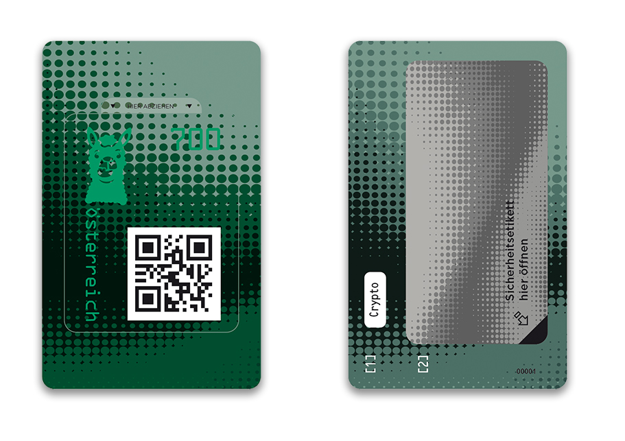 Österr. NEU: Crypto stamp 2.0 Crypto21