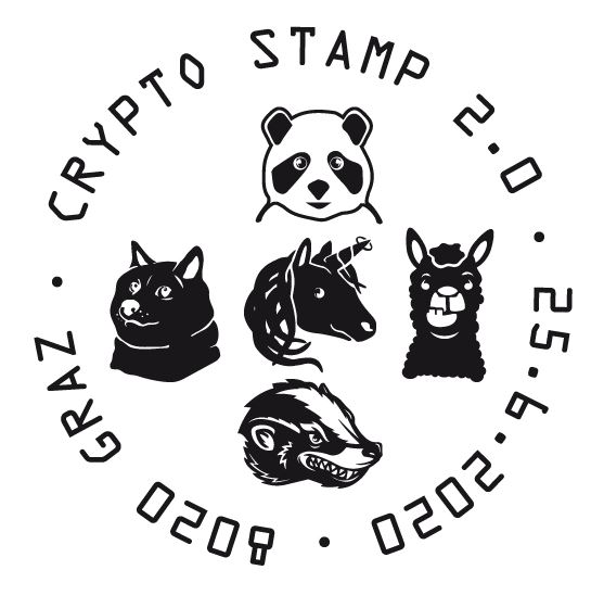 Österr. NEU: Crypto stamp 2.0 Crypto25