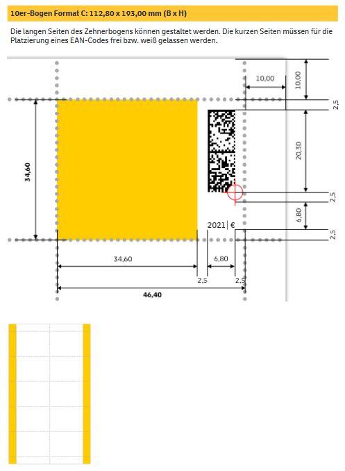 """Deutschland: Erste Briefmarke mit digitalen Matrixcode """"Digitaler Wandel"""" Digi_410"""