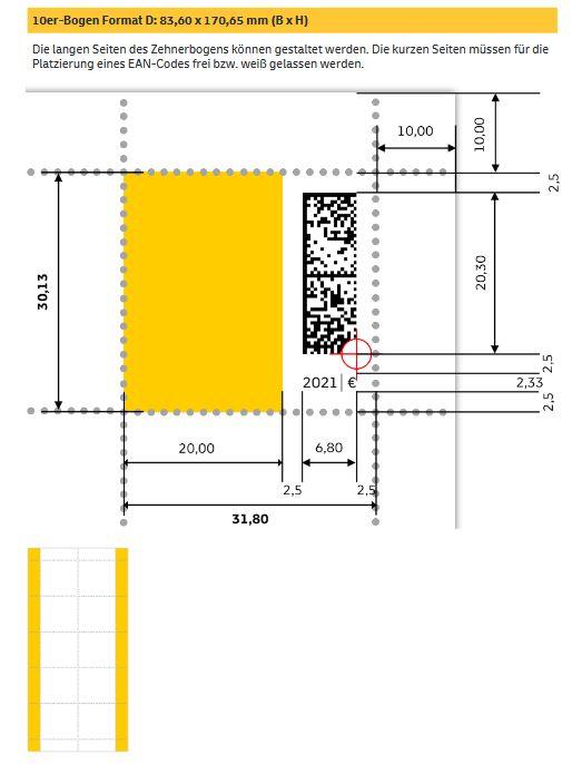 """Deutschland: Erste Briefmarke mit digitalen Matrixcode """"Digitaler Wandel"""" Digi_510"""