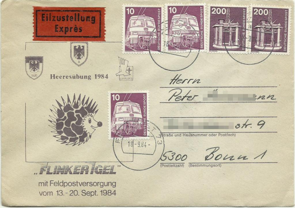 """Heeresübung 1984 """"Flinker Igel"""" Feldpo11"""