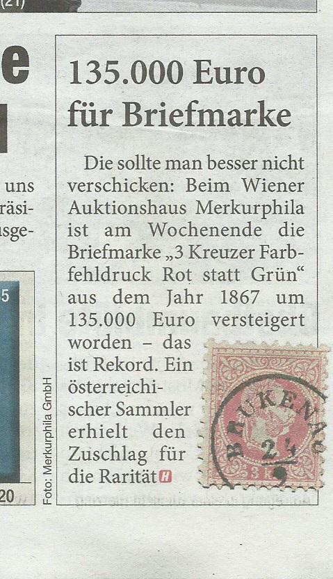 1867 Farbfehldruck für 135.000 € versteigert Heute_10