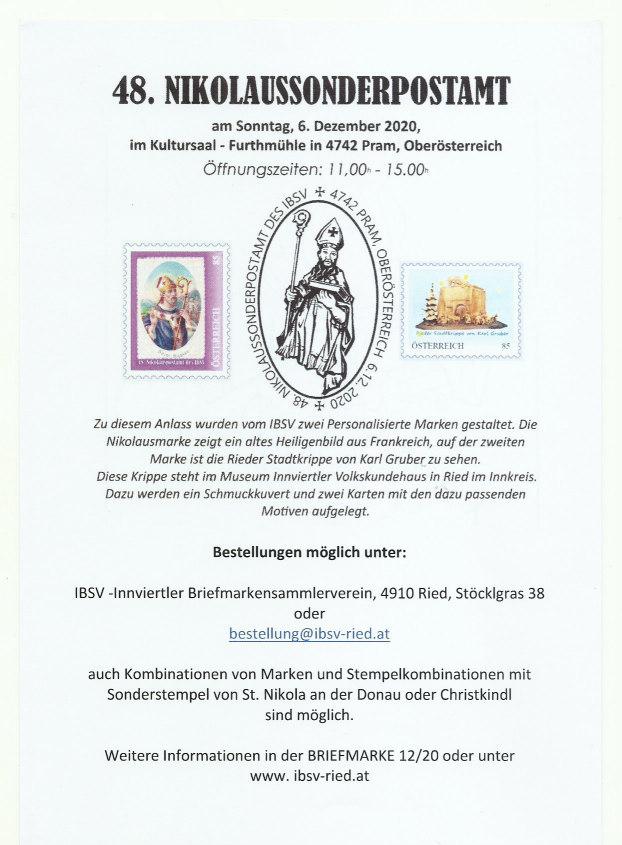 48. Nikolaus - Sonderpostamt Nikolo10