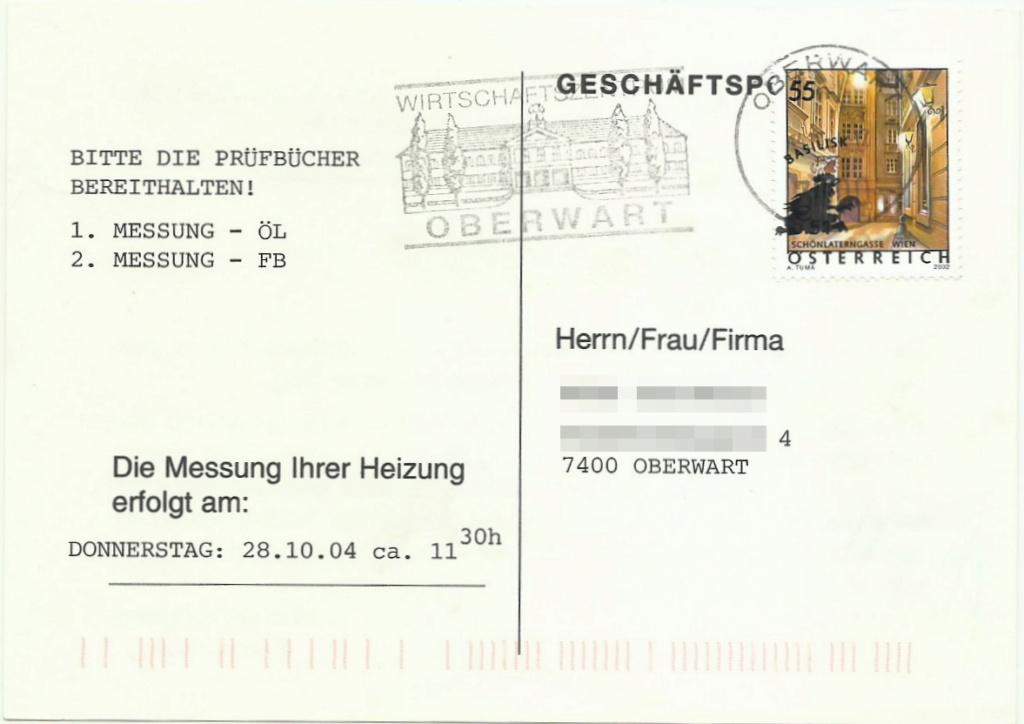 Ferienland Österreich - Dauermarkenserie Pk_bed10