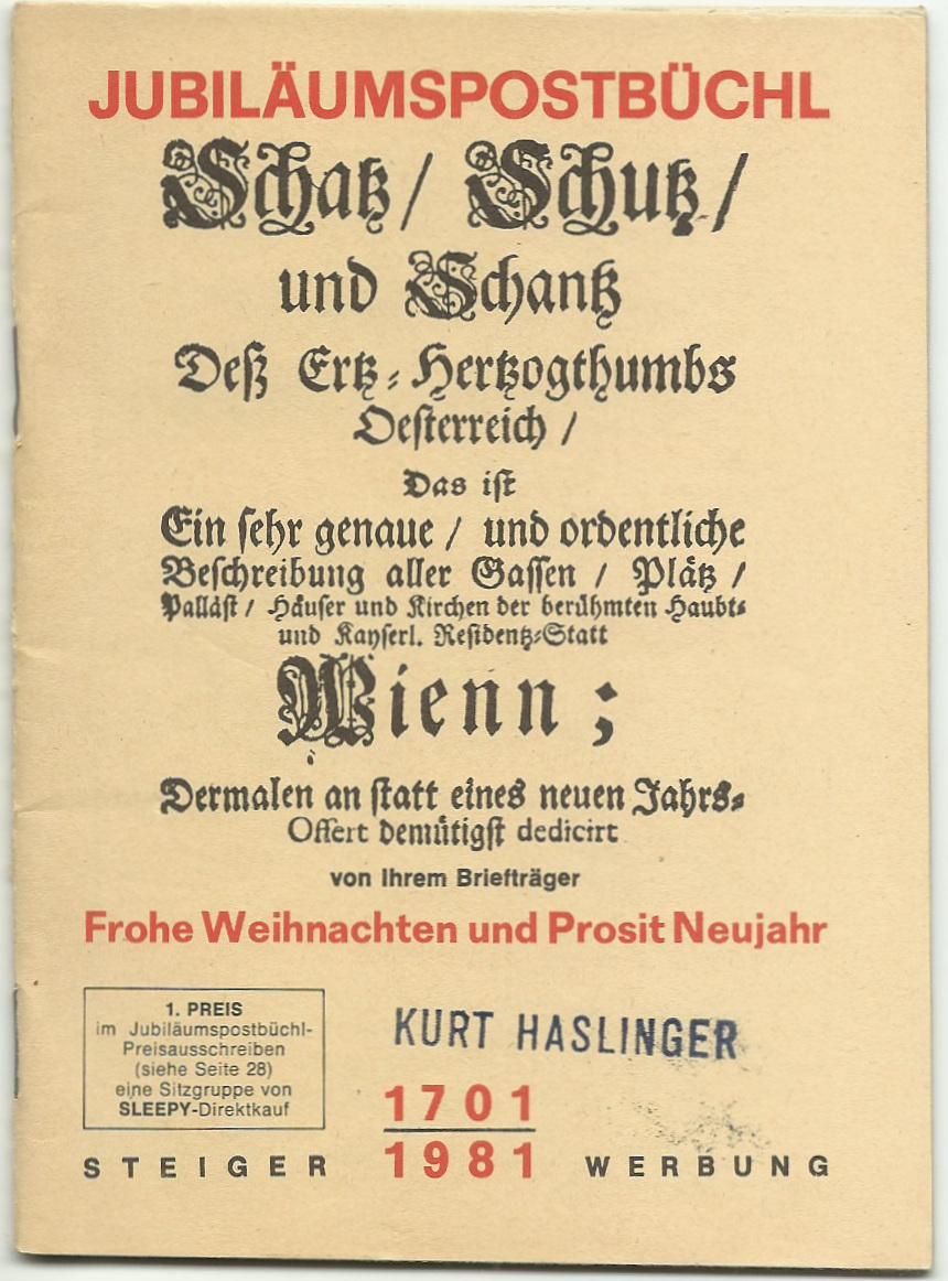 Postbüchl - Das kleine Postbuch Postbz10