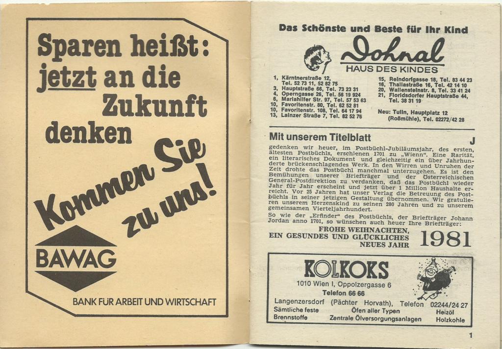 Postbüchl - Das kleine Postbuch Postbz11