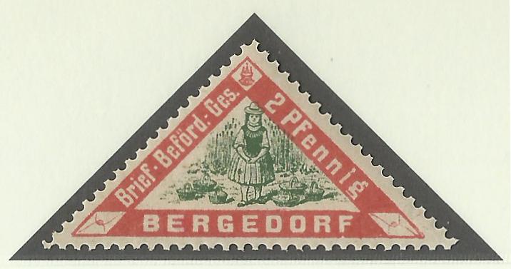 Deutsche Privatpostmarken um 1900  Privat10