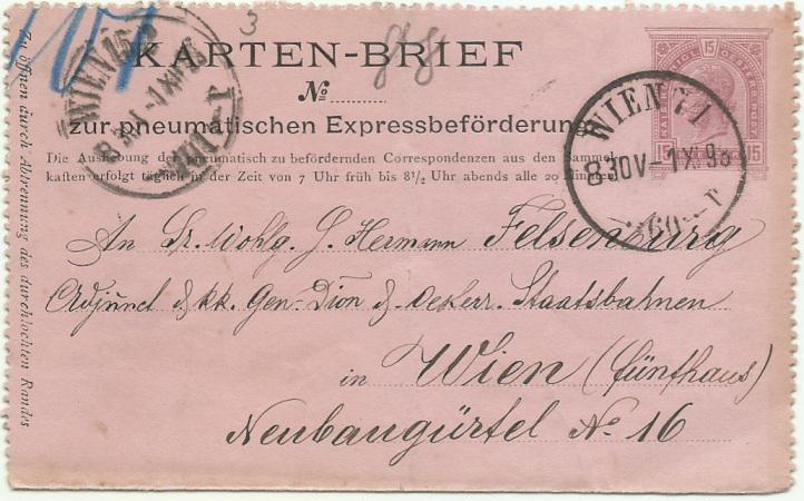 Rohrpost-Kartenbrief Rk_410