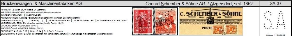 Lochung auf Briefmarken - Perfin - Österreich Schemb10