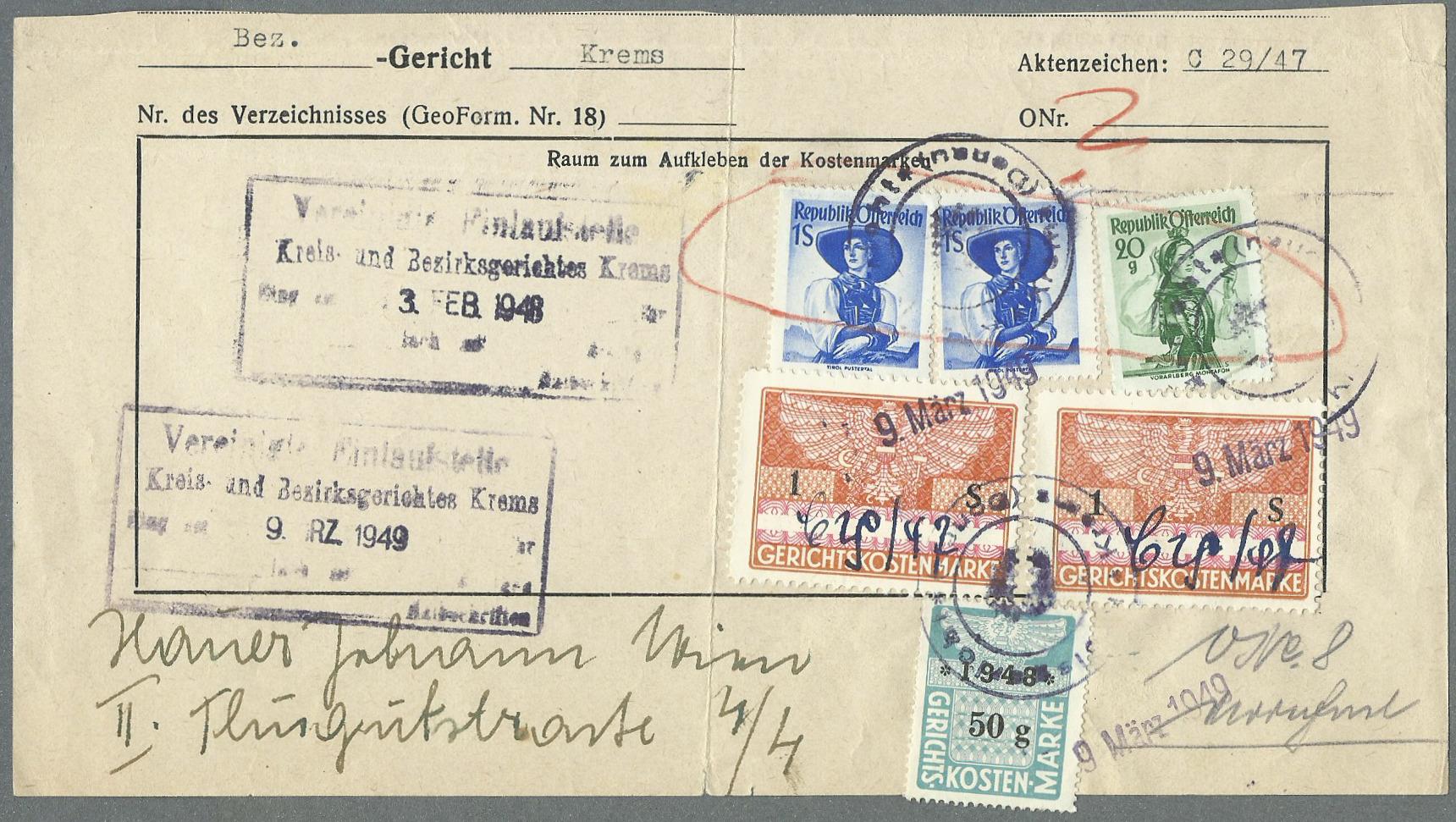 trachten - Trachtenserien ANK 887 - 923 und 1052 - 1072 Belege - Seite 13 Tracht11